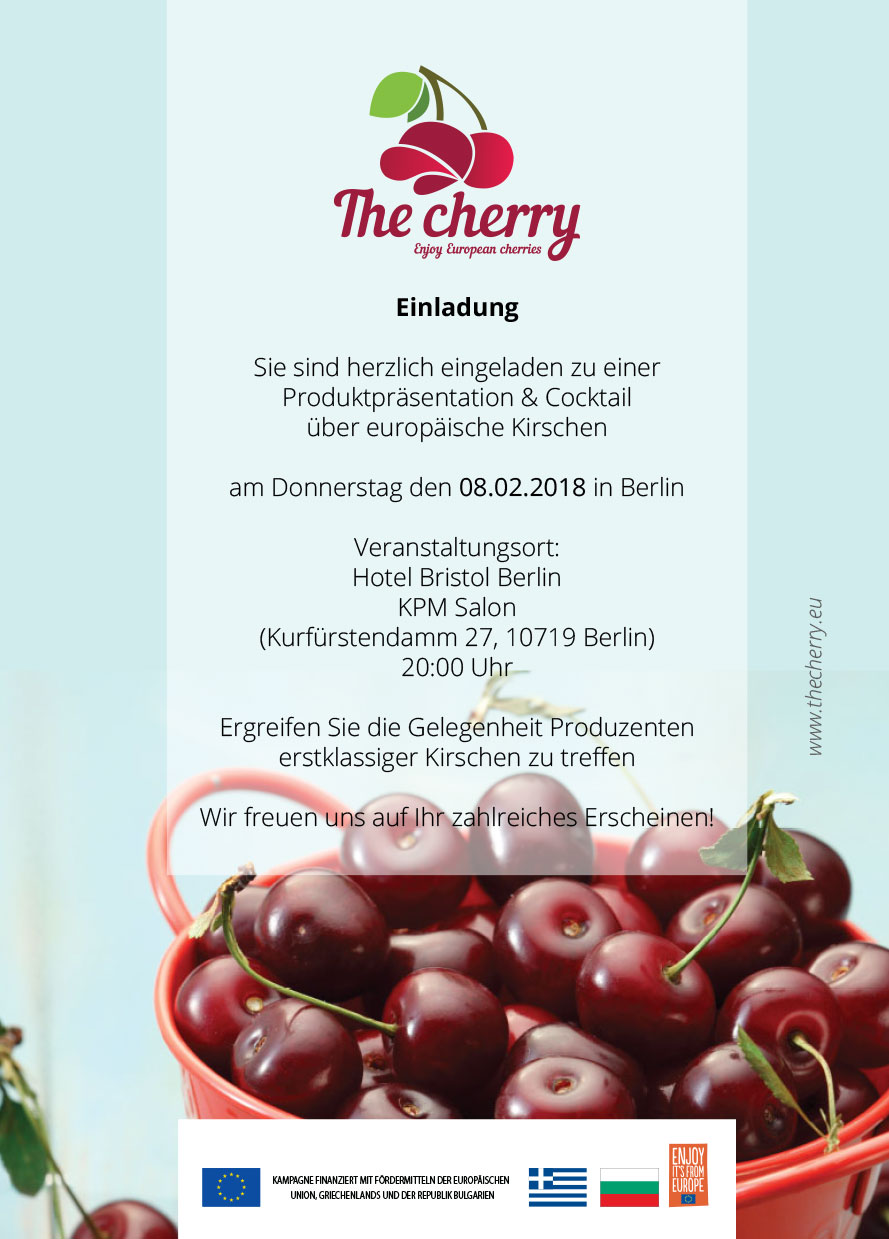 Einladung the cherry Berlin 08.02.2018 official