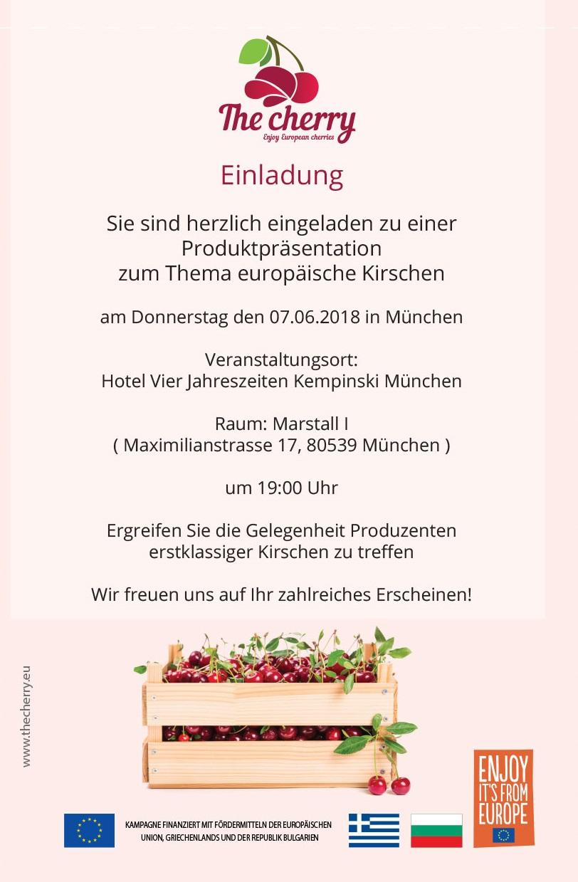 Einladung The cherry München 07.06.2018