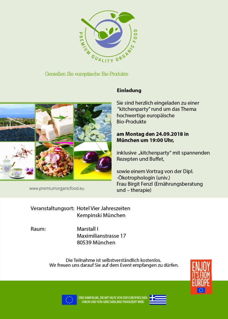 Einladung Organic München 24.09.2018